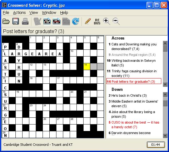 Crossword Solver Screen Shots
